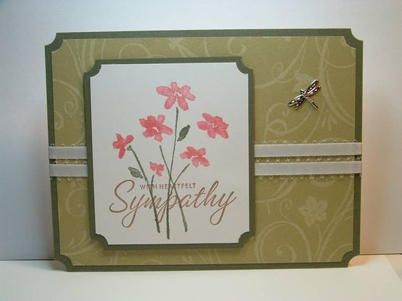 Simple Sympathy using Stampin Up Close as a Memory