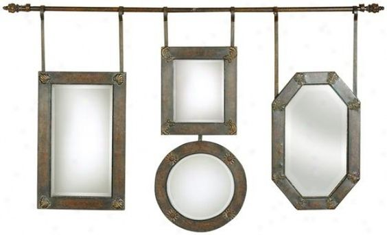 I wouldn't want to purchase mirrors like this, but I like the way they're hung.