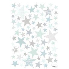 Vinilo infantil estrellas verdes