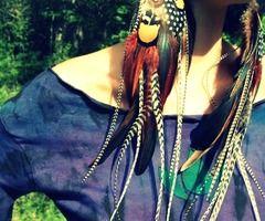feather earrings...love