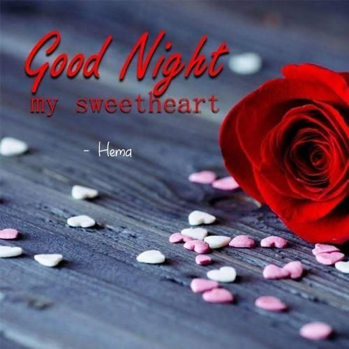 Write Name Sweet Heart Good Night Wishes Love Greeting Card In