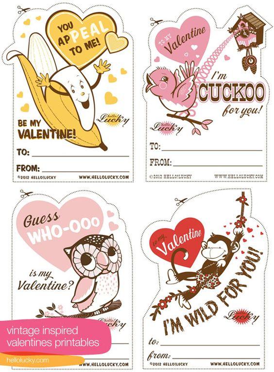 Vintage inspired Valentines