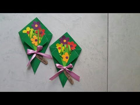 Easy Paper Flower Bouquet Making Idea For Kids Youtube Paper