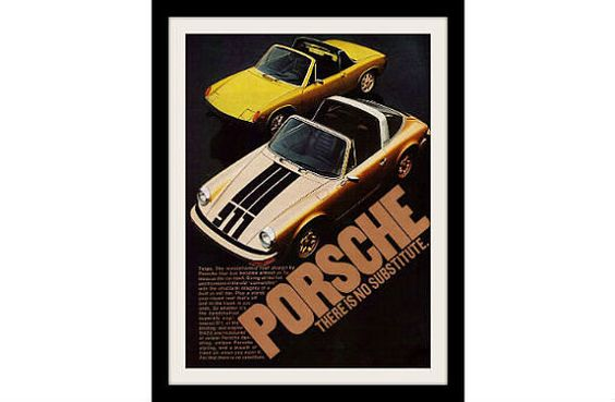 PORSCHE 911 & 914 TARGA 1974 Photo Ad Vintage by StillsofTime, $6.97