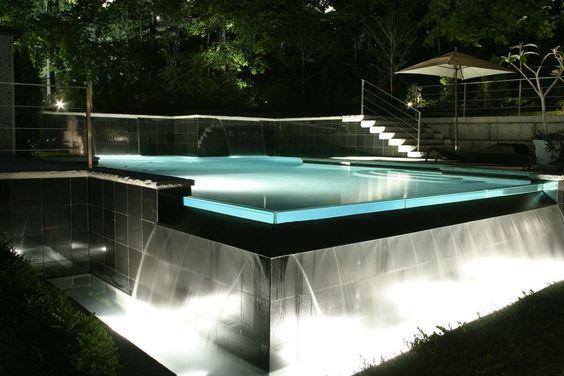 Modern LED lit pool