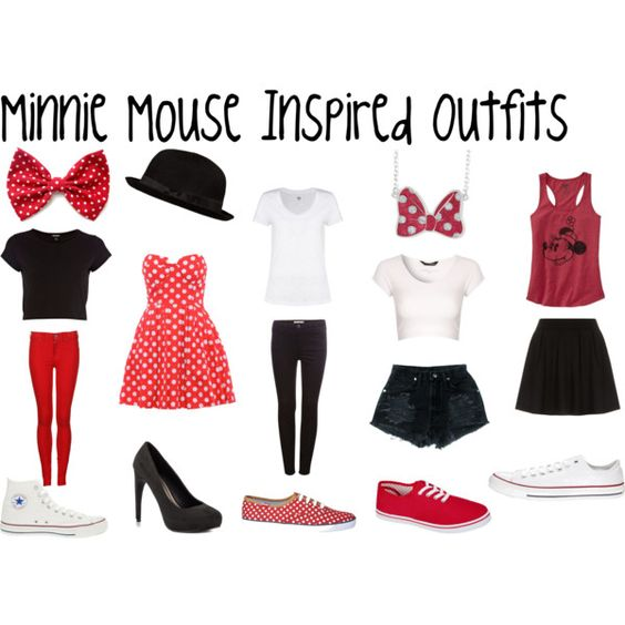 """minnie mouse inspired outfits"" by ashley2017 on Polyvore"