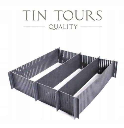Szare Przegrodki Do Szufaldy 6szt Sztywne 7684242447 Oficjalne Archiwum Allegro Tin Tours Flatware Tray