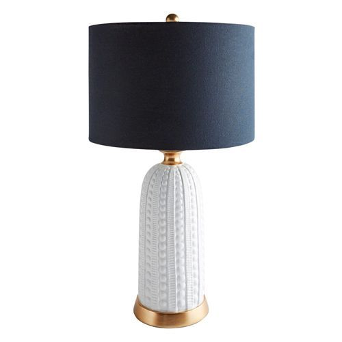 White Textured 29 Table Lamp With Navy Shade Pier 1 Navy Blue Lamp Shade White Lamp Shade Navy Lamp Shade