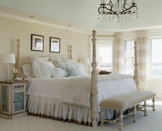 Shabby Chic Schlafzimmer helle schlafzimmer farben und möbel im shabby stil haus deko