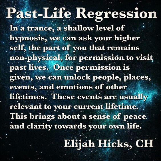 Past-life regression.