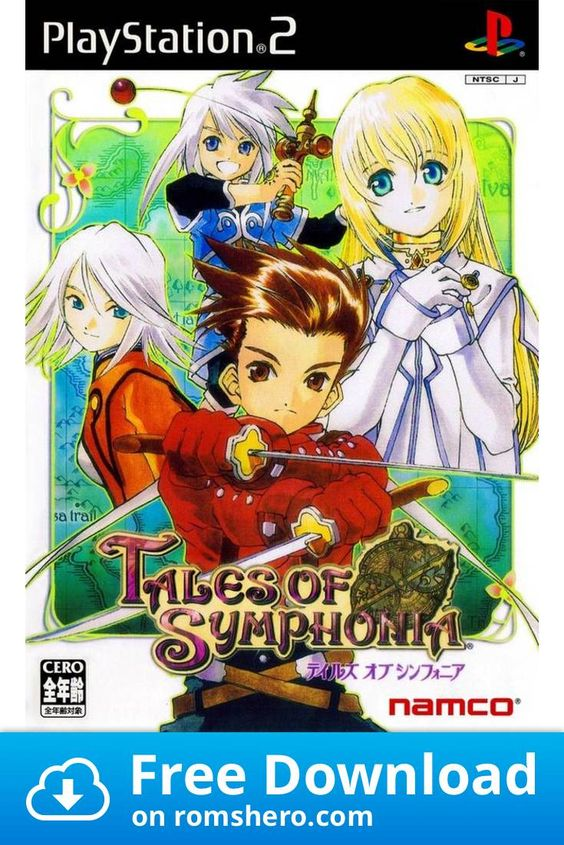 Download Tales Of Symphonia Playstation 2 Ps2 Isos Rom Playstation Playstation 2 Tales