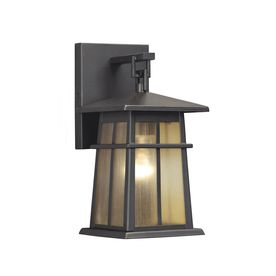 Replacing Outside Wall Lights : Portfolio Amberset 10.5-in H Specialty Bronze Outdoor Wall Light - another option to replace ...