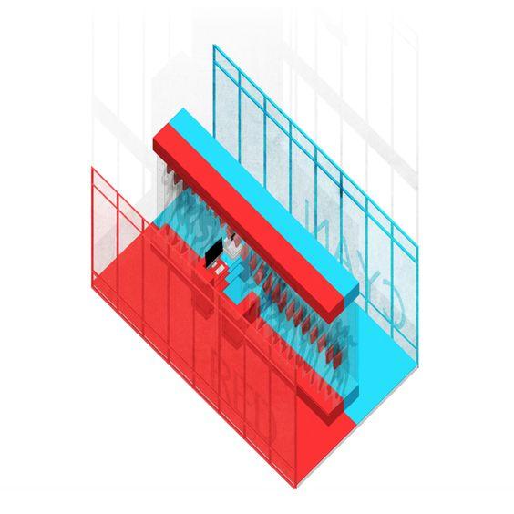 RedCyan Pop-up Store : Isometric, Year 3, 2nd Semester by Suparoj N. / Kornchanok N.