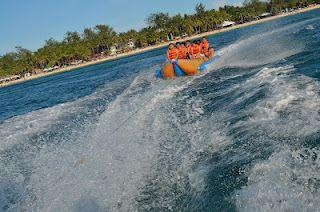 Banana Boating in Boracay Island, Philippines