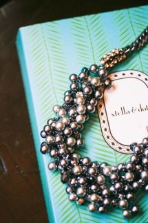Silver Bead & Pearl Necklace: