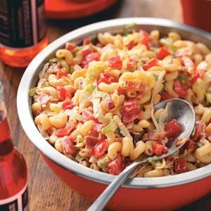 BLT Macaroni Salad Recipe from Taste of Home -- shared by Mrs. Hamilton Myers Jr. of Charlottesville, Virginia