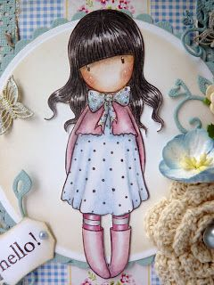 Jane's Lovely Cards: Gorjuss stamp  Girls Paperie pp: