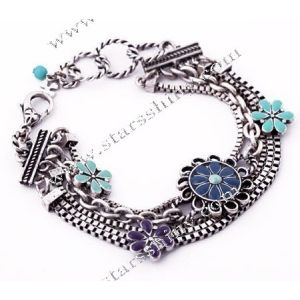 Charm Bracelet, vintage alloy beads, 7.5 inches        Item No.:SN014753      Shop price: US$5.09 - US$5.99