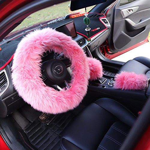 Hot Pink Bow For Car Gear Shift Or Handbrake Decoration Features Size Universal With Ribbon To Tie On Steering Wheel Cover Wheel Cover Girly Car Accessories