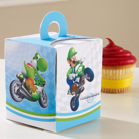 Mario Kart Wii Cupcake Boxes [set of 4]