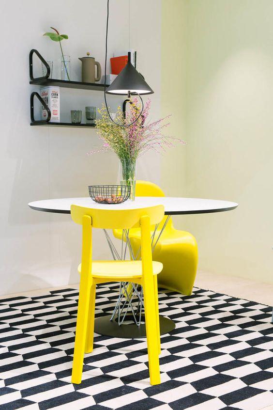 gelbe stuhle passen zu welcher kuche – contration, Wohnideen design