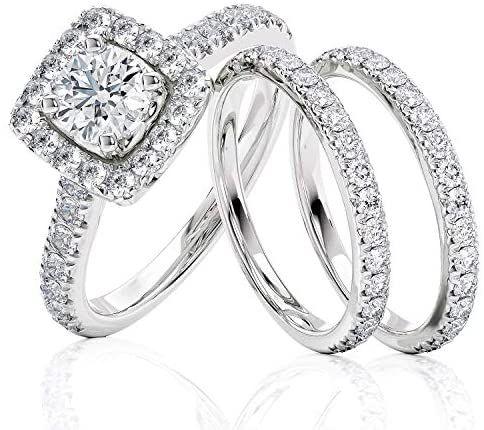 2 Carat Diamond Engagement Ring Igi Certified 14 Karat White Gold Diamond Ring For Women Di In 2020 Womens Engagement Rings Engagement Rings White Gold Diamond Rings
