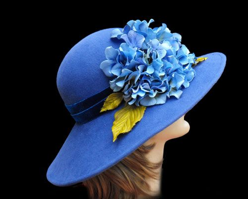 Francis Blue - Custom hats millinery Kentucky Derby women's hats mens Gena Conti couture casual Millinery MI