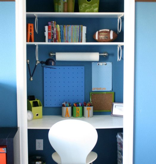 Contemporary Closet Craft Room Design, Pictures, Remodel, Decor and Ideas