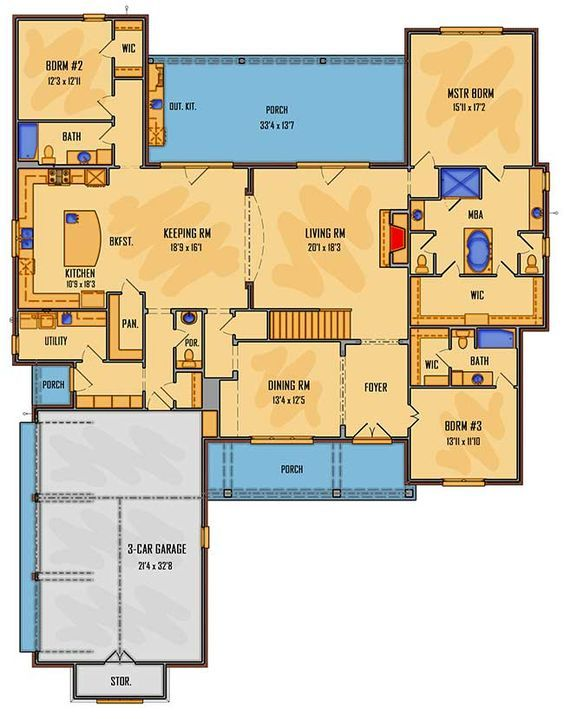 Plan 510006wdy Five Bedroom Southern House Plan Southern House Plan House Plans Architectural Design House Plans