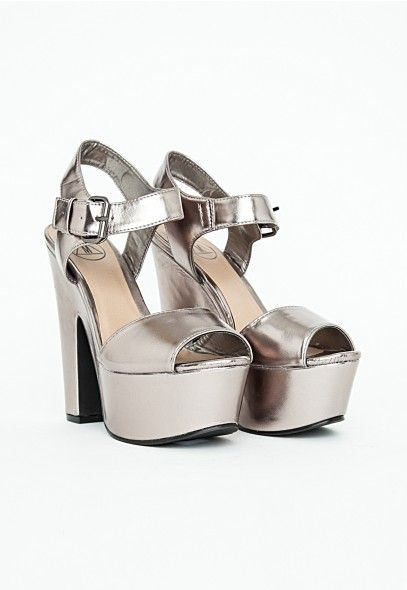 Augustina Metallic Platform Sandals - Footwear - Heels ...