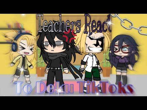 Bnha Teachers React To Deku Gacha Life Mha Youtube My Hero Academia Episodes Roblox Animation Cute Drawings
