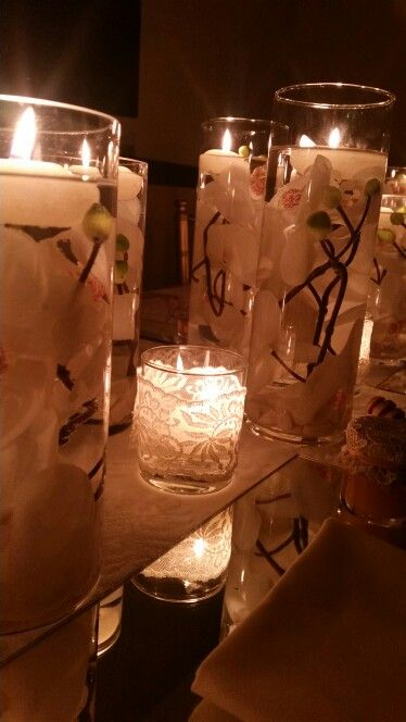 Spring table decor and candels from Ays Organizasyon
