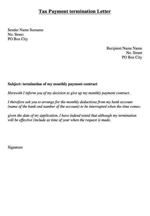 direct debit cancellation letter templates template your bank - termination of contract letter