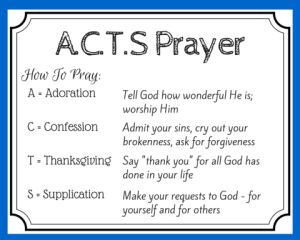 Accomplished image inside acts prayer printable