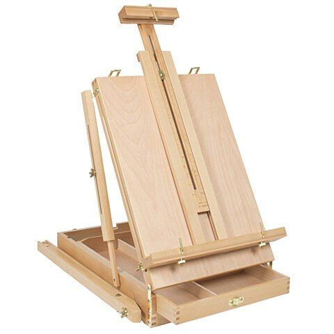 Dhx M Premium Red Beech Portable Sketch Box Oil Painting Easel With Palette 50 34 5 150cm Wood Color Sketch Box Easel Wooden Easel