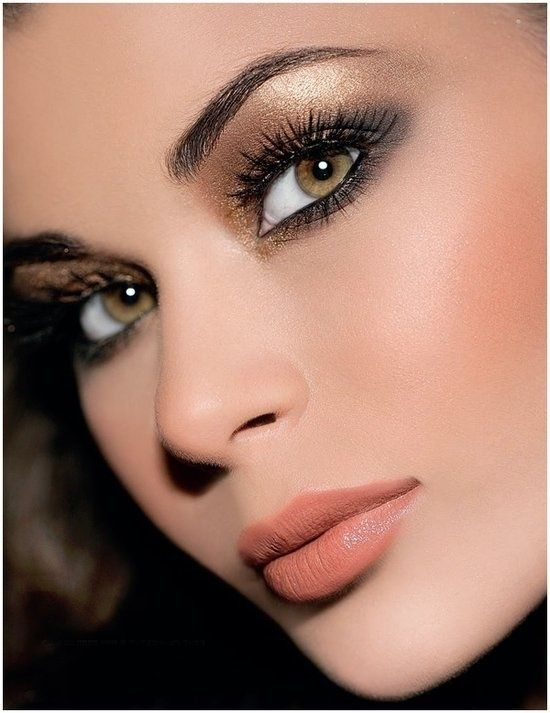 copper eye make-up