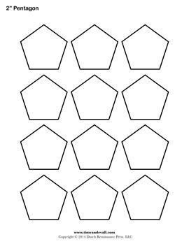 Printable Pentagon Outline | Resources | Pinterest | Shape ...