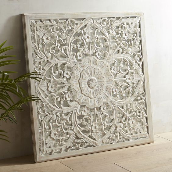 Antique White Adeline Carved Wall Decor | Pier 1 Imports