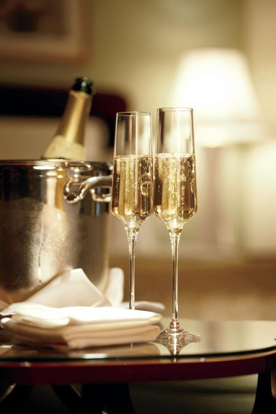 Cheers! Love this shape for champagne glasses