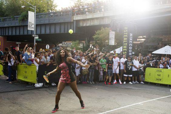 Tennis on NYC street