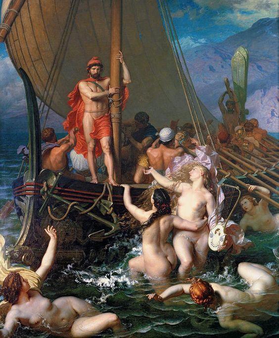 Ulysse et les sirènes Leon Auguste BELLY                                                                                                                                                      Plus