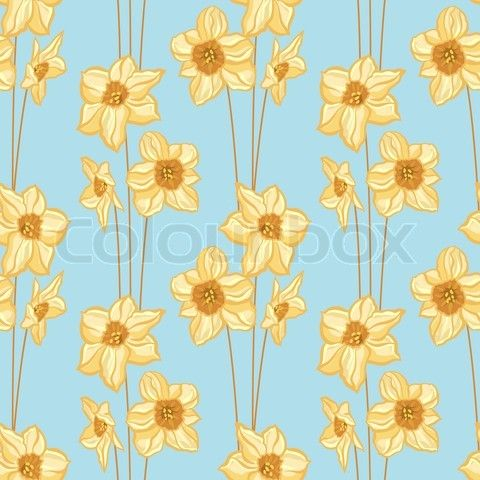 Google 搜尋 http://www.colourbox.com/preview/3590619-610011-seamless-flowers-pattern-vector-illustration-of-yellow-daffodils.jpg 圖片的結果