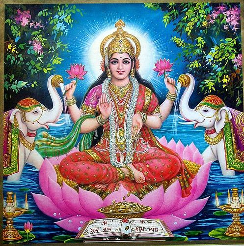 lakshmi, the source of vishnu's power.: