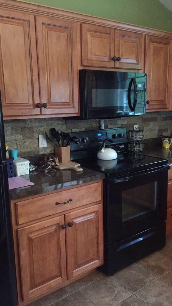 Pinterest the world s catalog of ideas - Builder grade oak kitchen cabinets ...