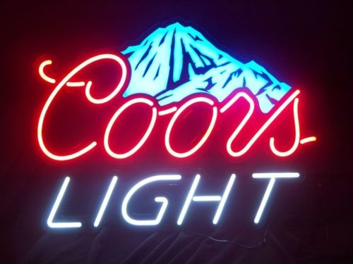 Man Cave Lighted Beer Signs : New coors light led color changing neon beer pub sign