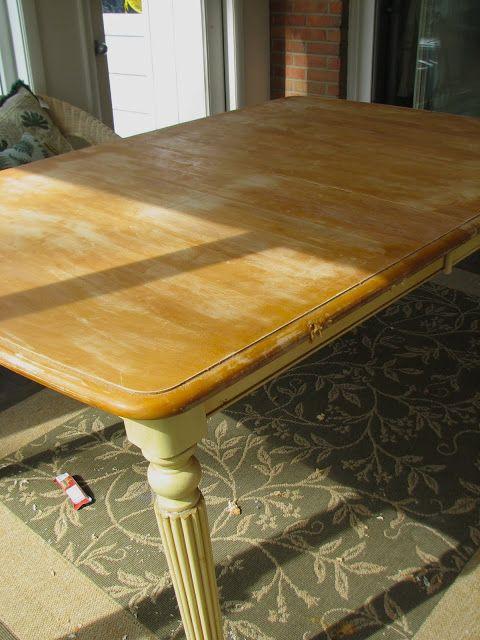 Mahogany Farm Table- Before & After   threeboys.net