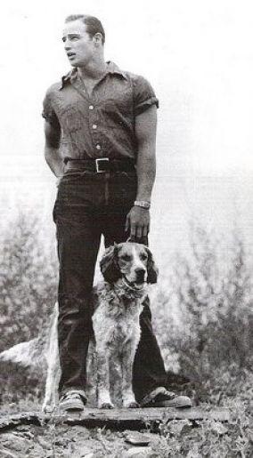 Brando and friend