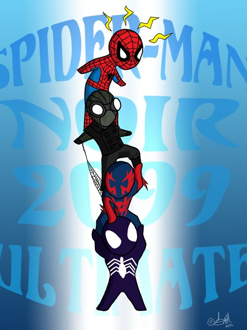 Spider-Man, Spider-Man Noir, Spider-Man 2099 & Ultimate Spider-Man