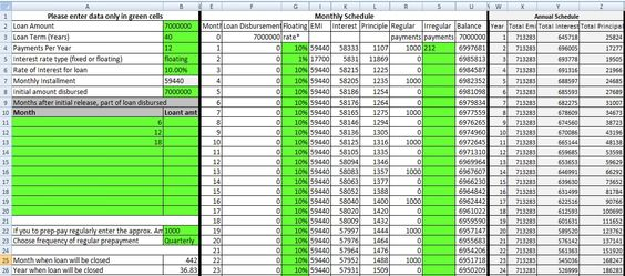 Excel-home-loan-amortization-schedule Finance Pinterest - amortization table in excel