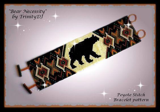 BP-PEY-121 2016 064 Bear Necessity Peyote Stitch por TrinityDJ